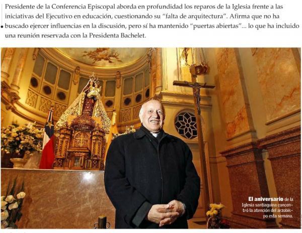 Cardenal Ezzati se refiere a la Reforma Educativa