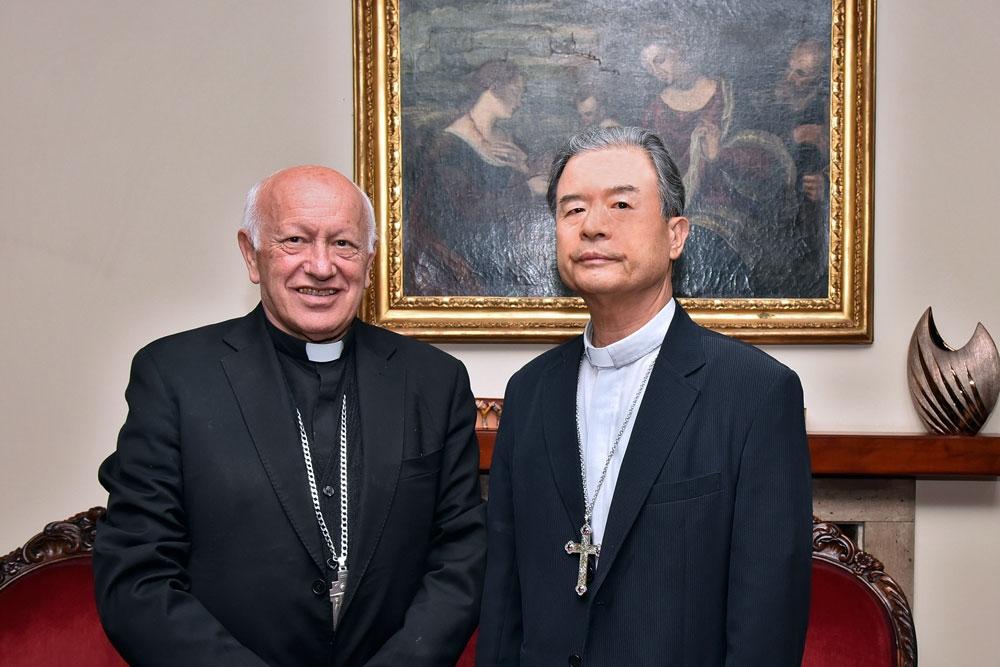 Obispo de Corea del Sur en Santiago