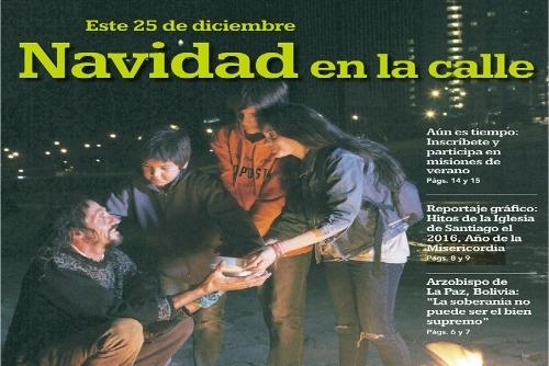 Periódico Encuentro diciembre: #NavidadEnLaCalle
