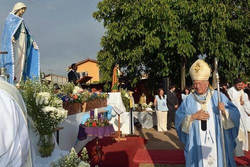 Celebran a la Virgen de Puente Alto con Primera Comunión