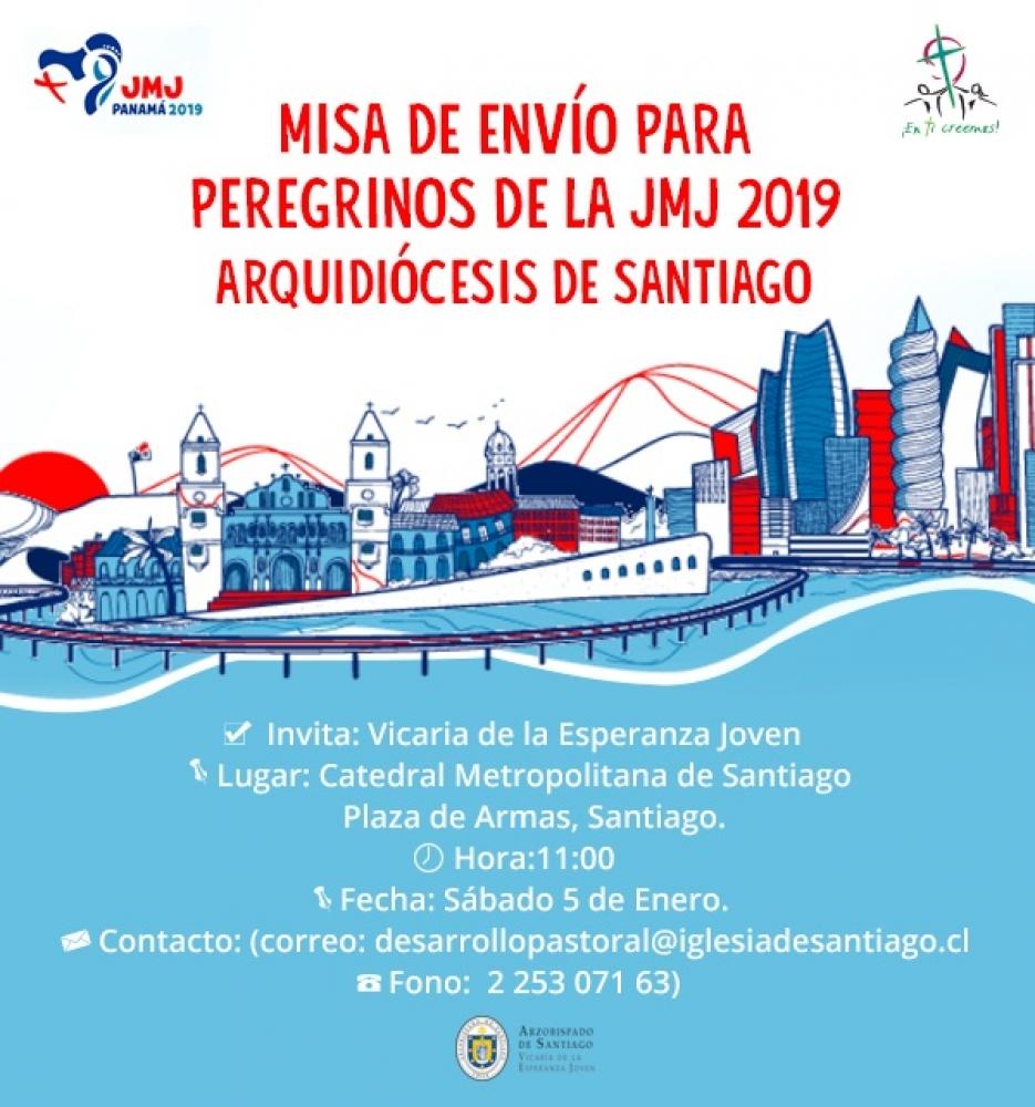 Misa de envió para todos los jóvenes peregrinos chilenos que participarán de #JMJPanamá2019